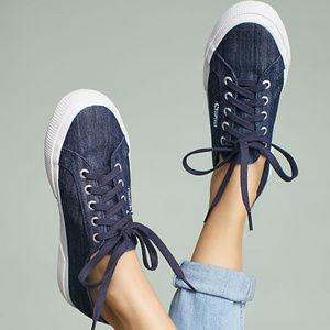 SUPERGA Lace Up Platform Sneakers